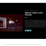 Urban lens visuals website screen shots