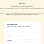 Contact page - Careers section