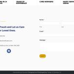 Homepage Contact form screenshot