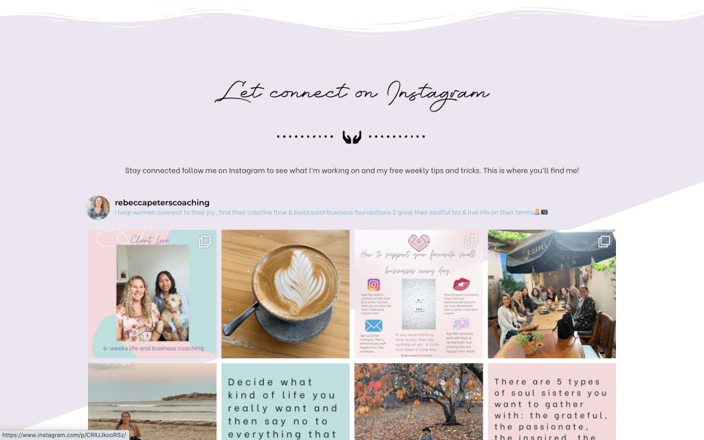 Homepage instagram