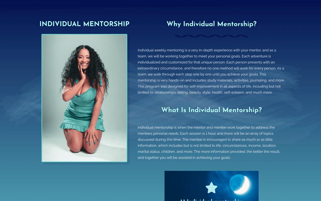 Services page - Individual mentorship