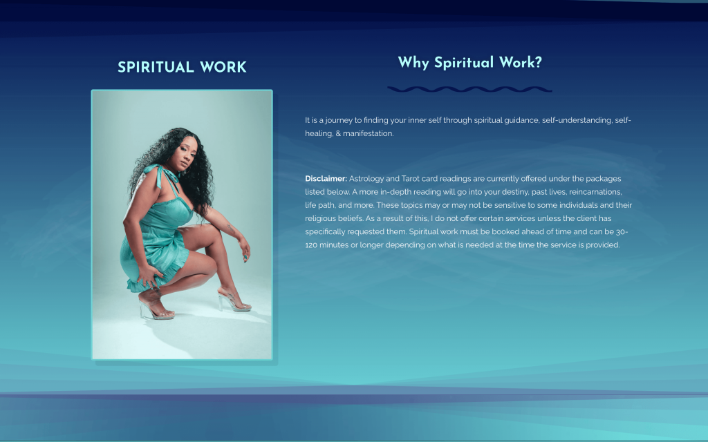 Services page - spiritual work